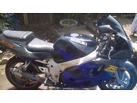 Suzuki GSXR600 SRAD Spares or Repairs Titanium Exhaust and Alarm