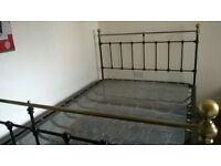 Double Bed With Sprung Mattress Base