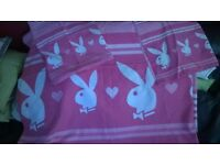 Playboy double duvet set pink x2