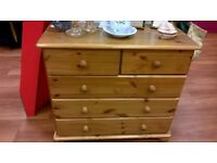 Pine chest of drawers for sale