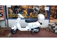 Vespa LX 125 Scooter For Sale Year 2012 New MOT and with 3 Months Warranty