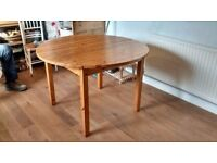Wooden extending kitchen table
