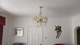 Light fittings for Sale - 1 x Chandaliar Style & 1 x Brass Effect