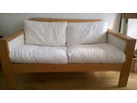 Small (2 seater) White IKEA Sofa - Good Condition, Ideal for any room - Collection from East Barnet