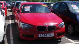 BMW 1 SERIES DIESEL HATCHBACK 114d ES (red) 2014