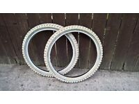 20 x 2.125 tyres x 2 for bmx or childs bike cycle kids