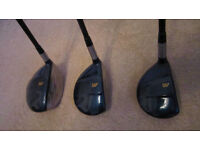 Mizuno T-Zoid set of 3 Metal Woods, Driver 1, 3, 7 Wood plus Head Covers