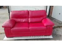leather sofa 2 seater for sale free delivery