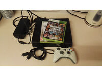 Xbox 360 (Black) and 2 games