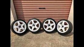 """Ford 4x108 Team Dynamic 17"""" alloys and Yokohama"""