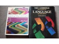 Selection of English Degree textbooks (Please see description for references)