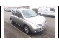 nissan micra, 2006, 1.2 petrol, 4 months MOT and tax ready to drive, 3 owners, good condition