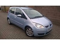2006 MITSUBISHI COLT 1.1, SILVER, 5 DOOR HATCH, LOW MILES, LONG MOT, S/HISTORY, CHEAP INSURANCE TOO!