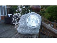 LED Garden Solar Powered Rock Light Walkway/Path/Landscape decking lights
