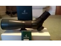 Swarovski ATS /80 HD with zoom lense 20-60 and skua carrying case and velbon delta trypod
