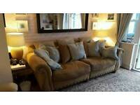 Stunning 4 seater sofa feather filled.