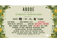 ABODE In The Park Finsbury Park September 24th 2017 12pm - 11pm