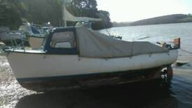 Boat forsale Plymouth pilot 16ft yanmar twin diesel 2gm20 reavertise due to time wasters