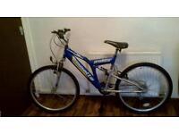 """Emmelle Predator mountain bike. 18""""frame, 26""""wheels."""