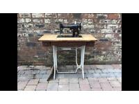 Old Treadle Singer Sewing Machine On Cast Iron Base - Can Deliver