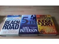 3 JAMES PATTERSON HARDBACKS FOR SALE