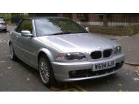 BMW 323CI AUTO CONVERTIBLE 2000 W REG MET SILVER / BLACK LEATHER PAS AIR/CON 98K MILES