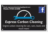 Express carbon cleaning for cars, vans, boats and more
