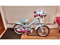 Solid Oak Sideboard and a little girls Apollo bike