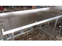 COMMERCIAL STAINLESS STEEL PREPARATION TABLE