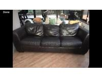 Very good condition 3 seater leather sofa