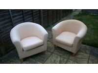 cream (ish) tub chair, ONLY 1 LEFT