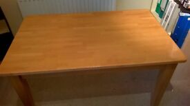 Dining table. Good condition, 6 person, sturdy pine dining table. Bought from John Lewis.