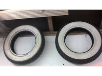 Continental white wall whitewall tyres vespa px gs vbb tyre lambretta scooter 10in