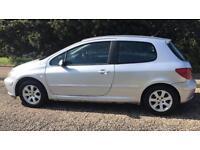 PEUGEOT 307 1.6L (2004) low miles year Mot 3 door