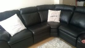 Brand New leather L Shaped Sofa not even 2 months old
