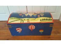 Vintage Hand Painted Child's Toy Chest Storage