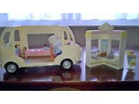Sylvanian Families Ice Cream Van and Crepe Stand