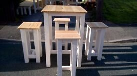 DRESSERS,TV UNITS,BEDS,SIDEBOARDS,DINING/COFFEE TABLES HAND MADE,GARDEN&PATIO BENCHES FROM £49 LOOK
