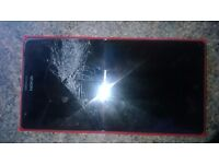 nokia 1520 mobile 6inch screen (damaged) dropped it
