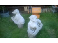large dog statues