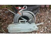 Heavy duty steel cable winch