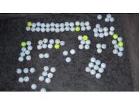 100 golf balls in Good Condition... Titliest, Callaway, Srixon, etc.