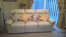 3 and 2 seater recliner leather sofas