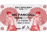 Nic Fanciulli HOUSEKEEPING event at KOKO, London