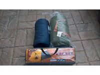 AS NEW 2 MAN TENT +2 SLEEPING BAGS