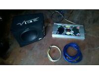 "vibe slick 12"" sub and 2000w amp"