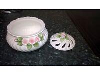 pretty small pourri dish with lid