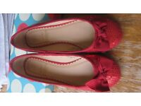 red sparkly shoes size 31