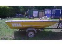 Fletcher 13ft speedboat