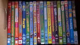 Box of 18 kids DVDs